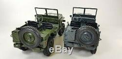Uk Willys Jeep Modèle De Camion Militaire Hors Route Voiture Rc 110 Mini Buggy 4 Roues Motrices USA Army