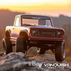 Vanquish Vps09006 Vs4-10 1/10 Ultra Black Anodisée Off-road Origin Halfcab Kit