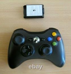 Véritable Microsoft Xbox 360 Wireless Black Controller Livraison Gratuite