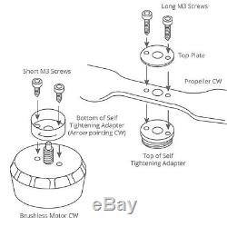 Xoar Dji Inspire 1 Fibre De Carbone Hélices + Accessoires 1345 Adaptateur Auto-serrage
